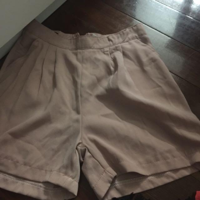 Pastel Pink High Waist Short