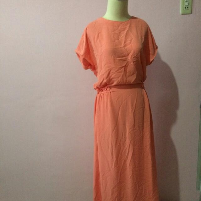 Peach Long Dress