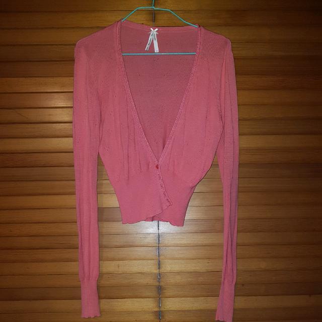 Peach Miss Shop Cardigan Size 12