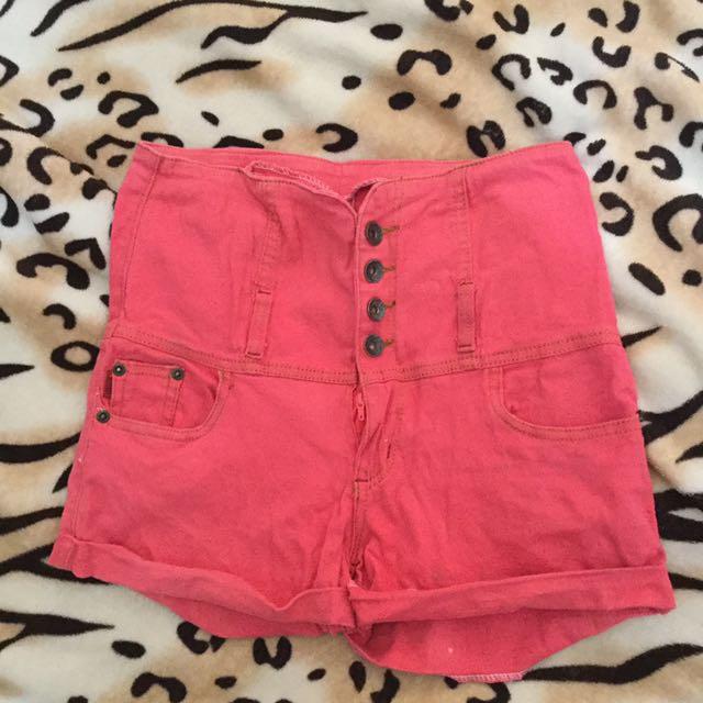 Pink High Waisted Short