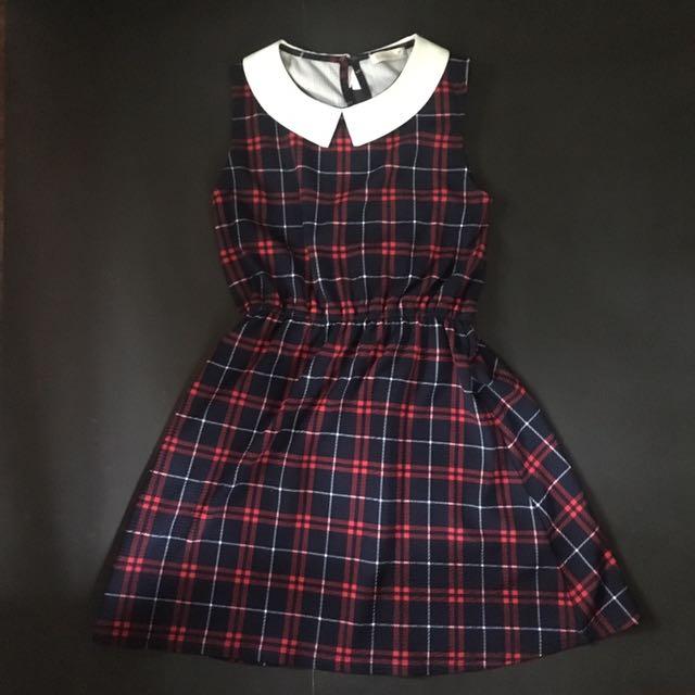 Plaid Collared Dress