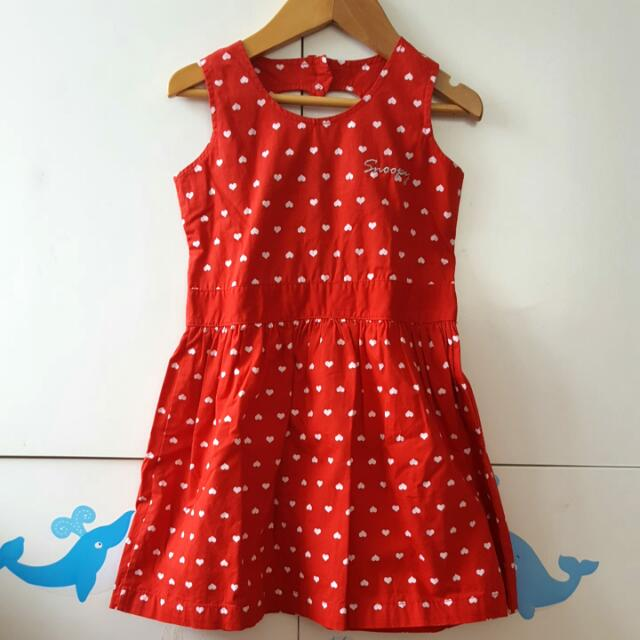 *PRELOVED* Snoopy Dress With Heart Prints - Like NEW