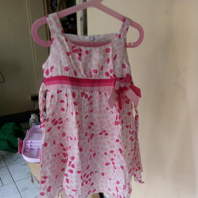 Printed With Ribbon Dress
