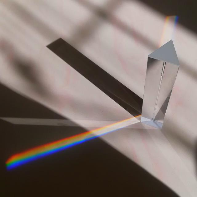 *Free shipping for Semenanjung Msia* Prism Triangle Glass For Rainbow Effect (15cm)