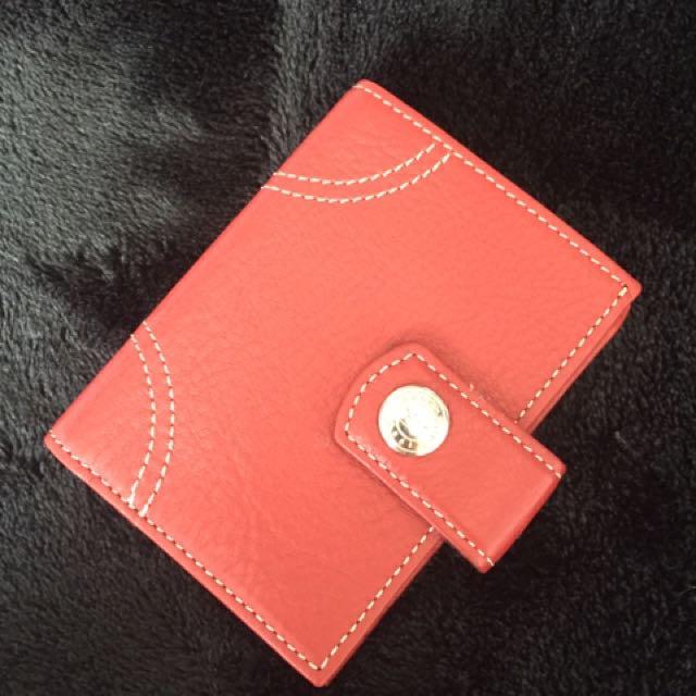 Red Longchamp wallet BNWOT