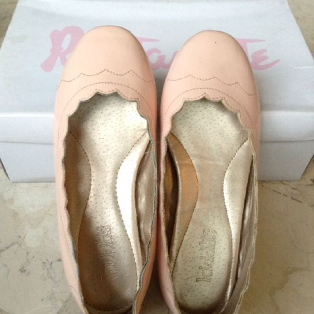Rustanette Salmon Pink / Ecru Doll Shoes for Kids