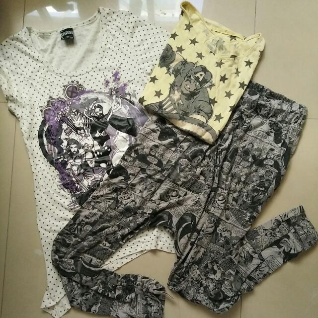 S美國隊長飛鼠褲+S上衣2件 #我的旋轉衣櫃 #女裝出清 #美國隊長