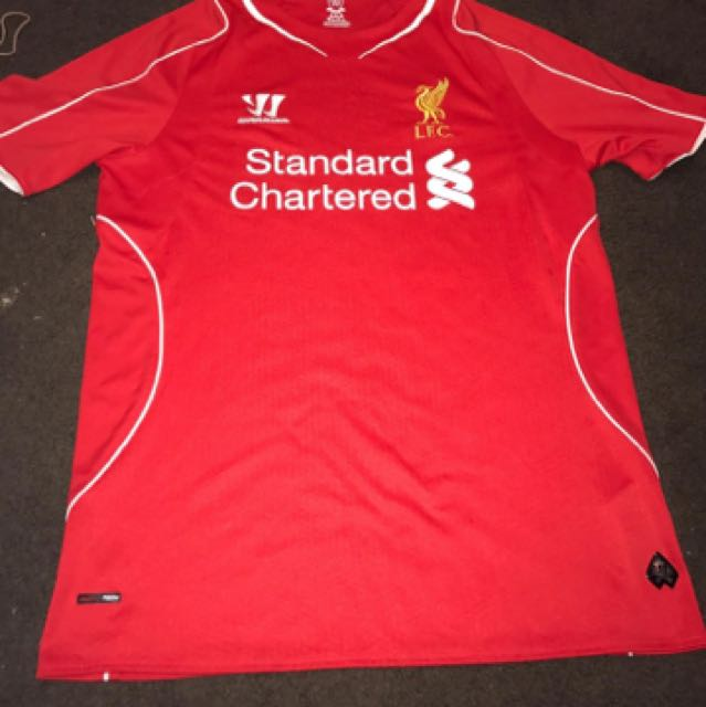 Season 14-15 Liverpool FC Home Football Jersey
