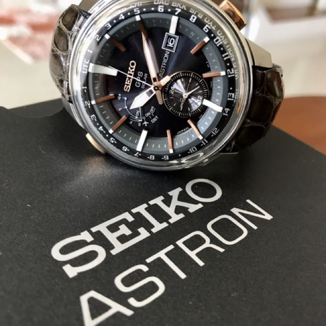 90399ad9627 Seiko Astron Solar GPS Steel   Rose Gold 48mm Watch