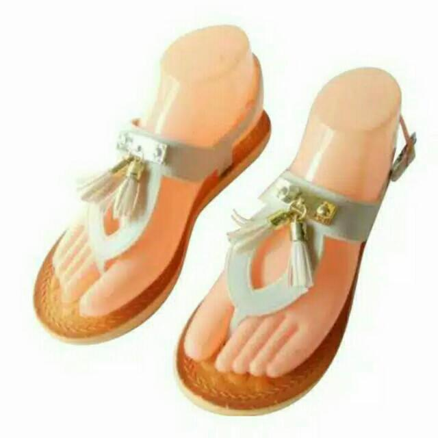 Sendal Rumbai Tali Jelly Shoes