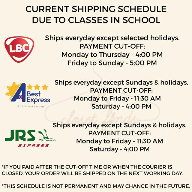 SHIPPING RATES & SCHEDULE