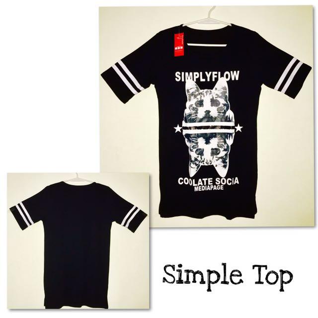 Simple Top : Black