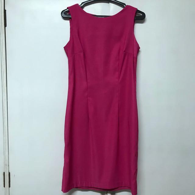 Sleeveless Fuchsia Pink Dress