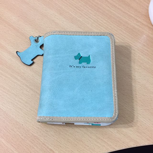 Small Blue Wallet