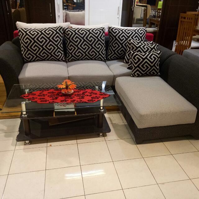 Sofa L Ruang Tamu Bisa Custume Ukuran Dan Warna Home Furniture On