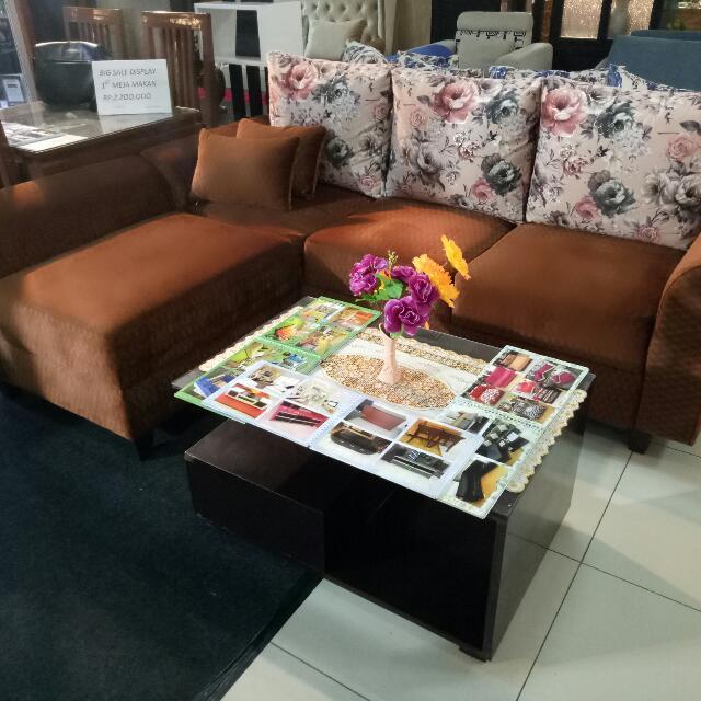 Sofa L Ruang Tamu Bisa Custume Ukuran Dan Warna Perabotan Rumah Di Carou