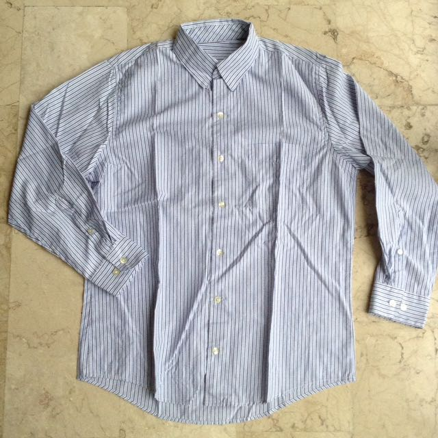 Stripes Polo Button Down Long Sleeves for Men
