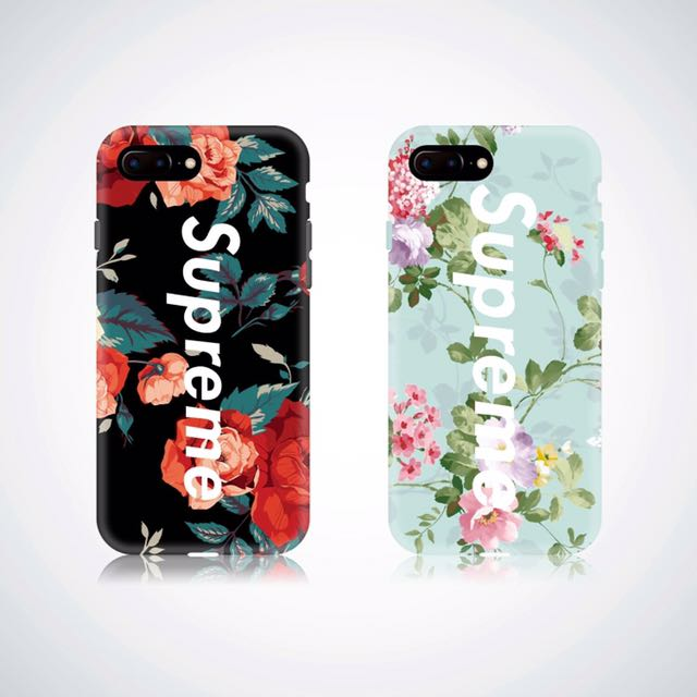 Supreme Floral Cases For Iphone