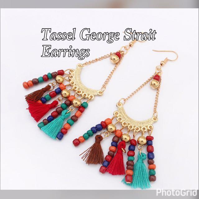 Tassel George Strait Earrings