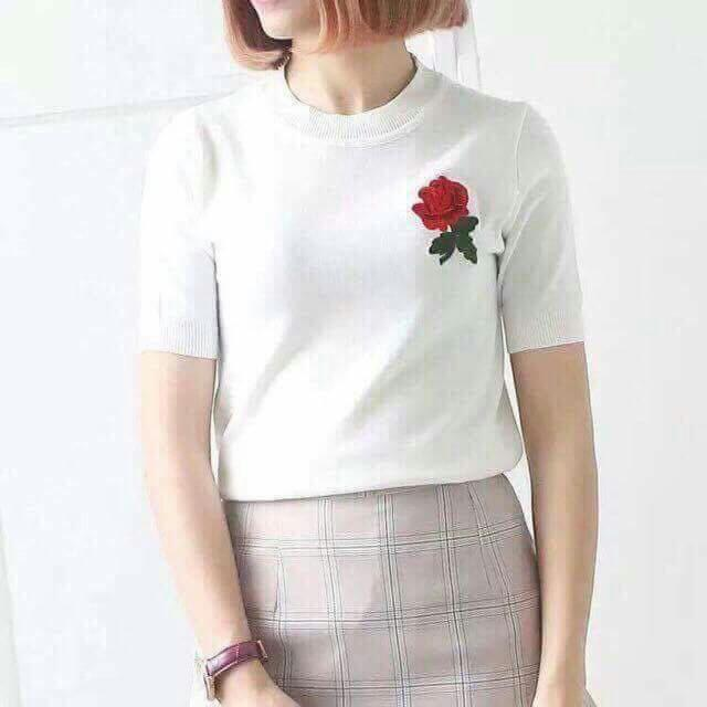 Top Embroidered Knitted