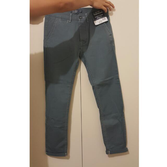 Top Shop Topman 5 Pockets Skinny Chino Light Blueish Waist 30