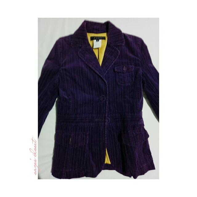 velvet-like office coat