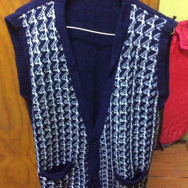 Wool Blue Vest