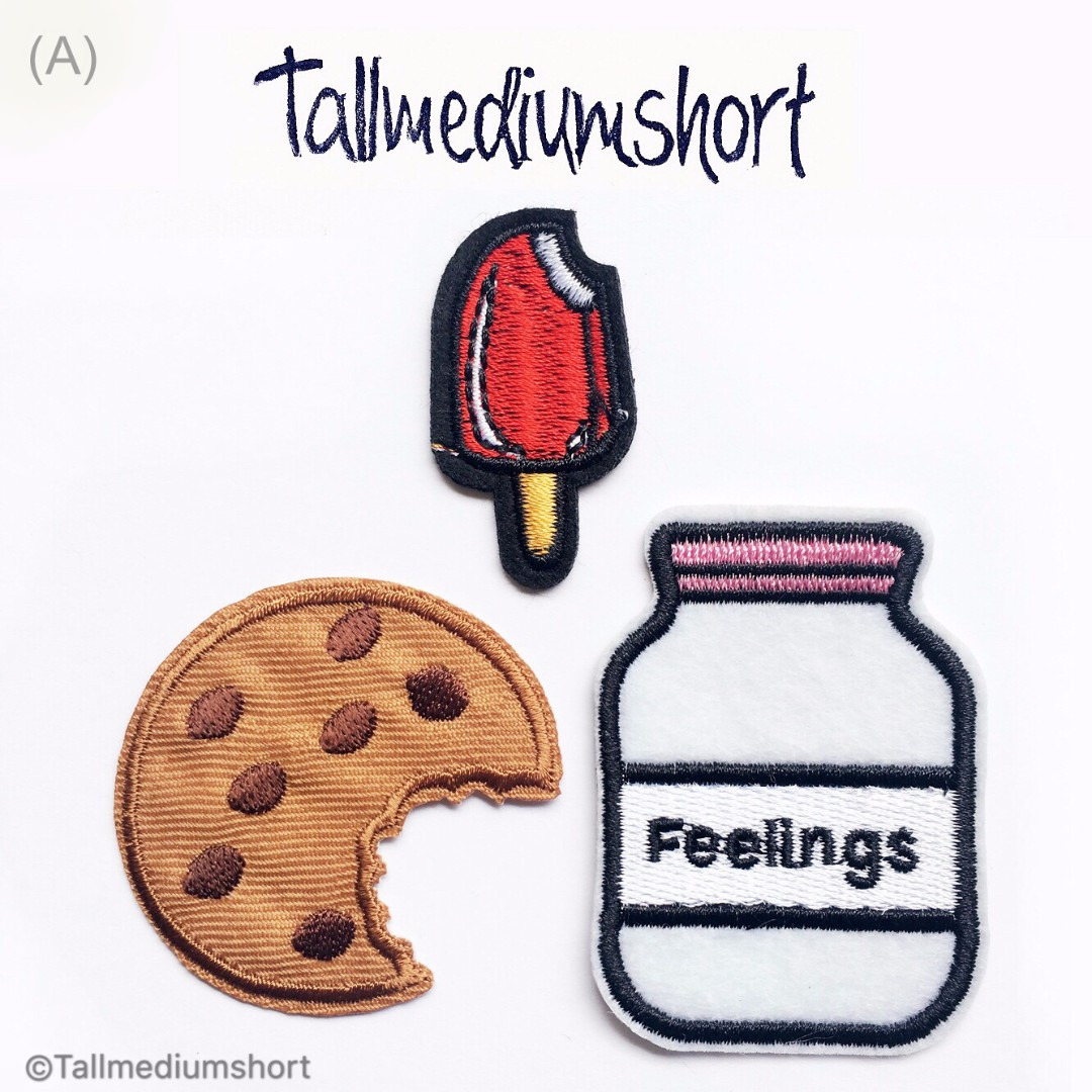Yummilicious Embroidered Iron-on Patches/ Pins (DIY) 1