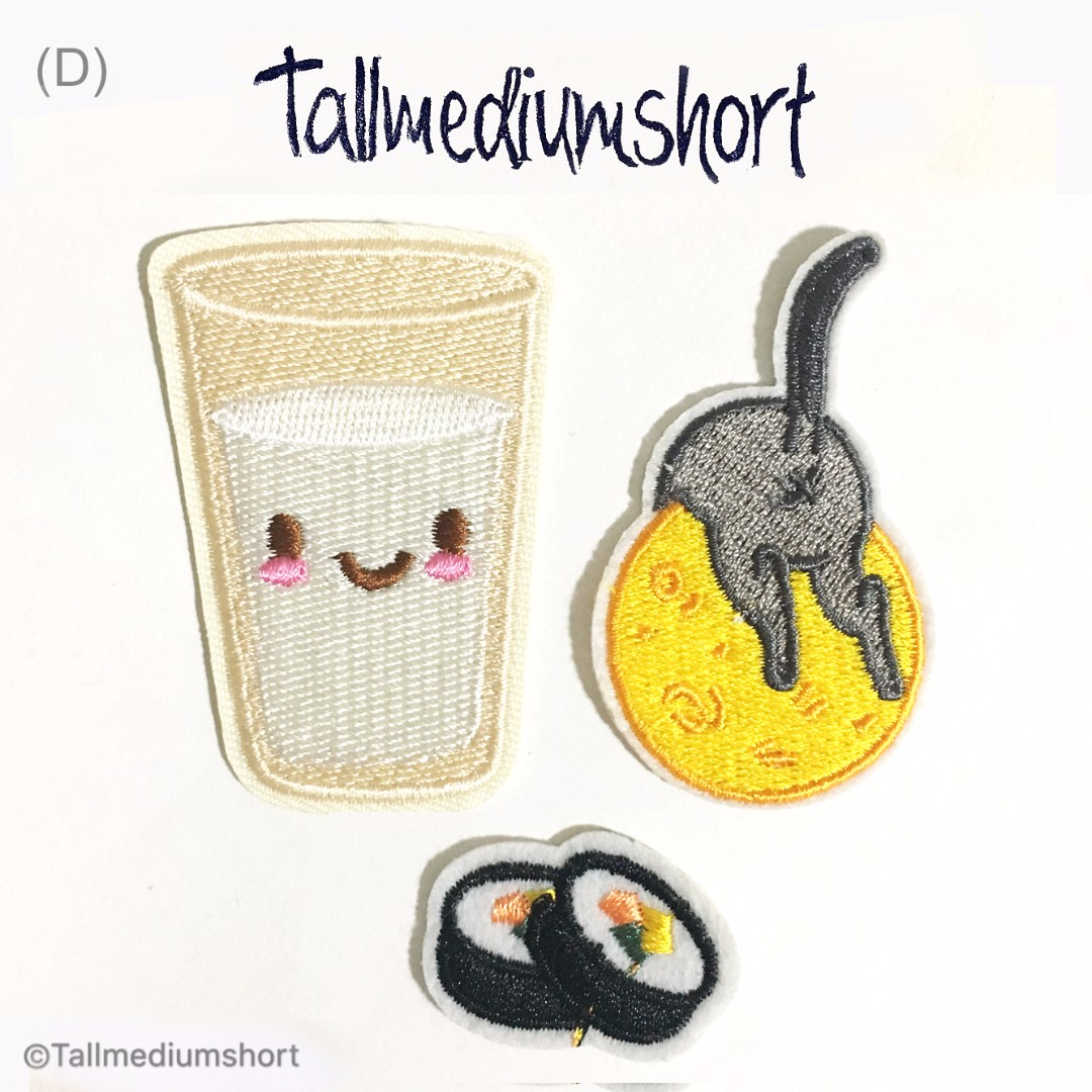 Yummilicious Embroidered Iron-on Patches/ Pins (DIY) 2
