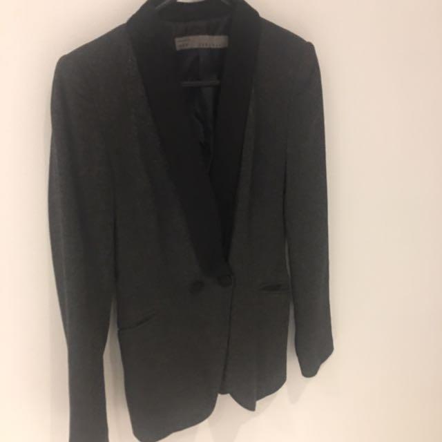 Zara Blazer Grey/Black Size Xs