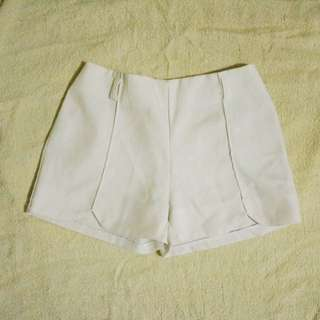 White Basic Shorts