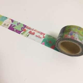 水彩小屋繽紛花樣紙膠帶