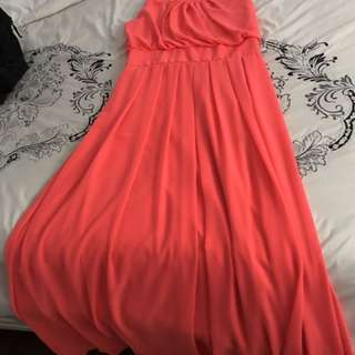 Full Length Coral Gown