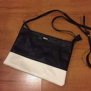 Parfois Black And White Small Sling Bag