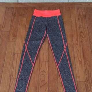 Grey and pink sweatpants/tights