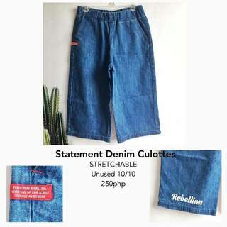 STATEMENT DENIM CULLOTES