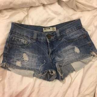 CO denim ripped shorts