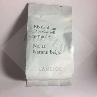 Laneige BB Cushion [Pore Control] REFILL: 21 - Natural Beige