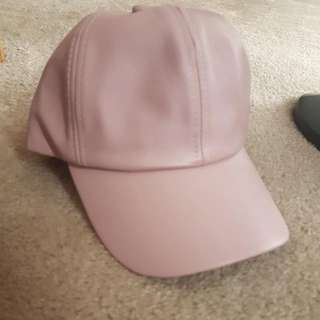 DUSTY PINK Leather Hat