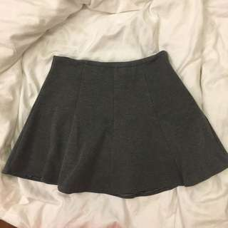 Grey flare A line skirt