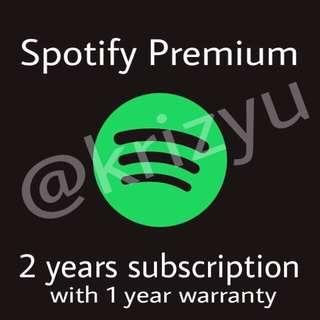 2yrs Spotify Premium With 1yr Warranty