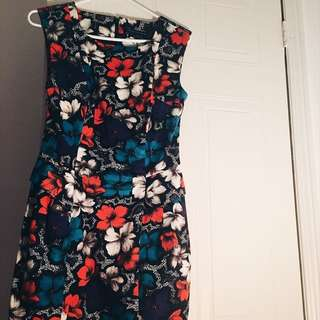 French Connection Peplum Floral Dress