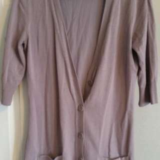 Grey/purple Short Sleeve Button Up Tunic
