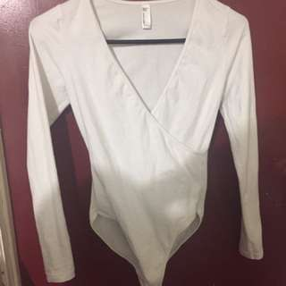 AA White Bodysuit S