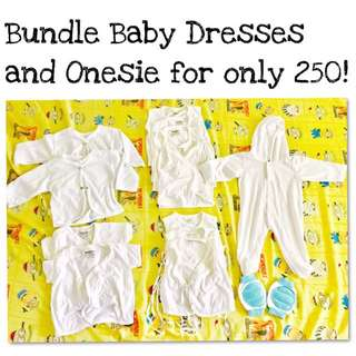 Bundle Baby Dresses And Onesie