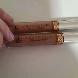 Anastasia Liquid Lipsticks In Naked And Stripped