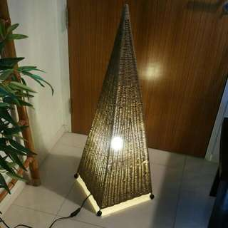 Antique Bali Balinese / Thai Thailand / Cambodia  Unique Bali Style Zen  Rattan, Water Hyacinth Light Deco  (with on/off switch)  Floor Type (Huge pc)