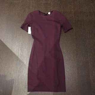 Aritzia Wilfred Burgundy Dress Size XS