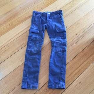 Witchery Kids Size 5 Navy Cargo Pants
