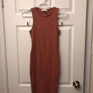 Pink Open Back Dress